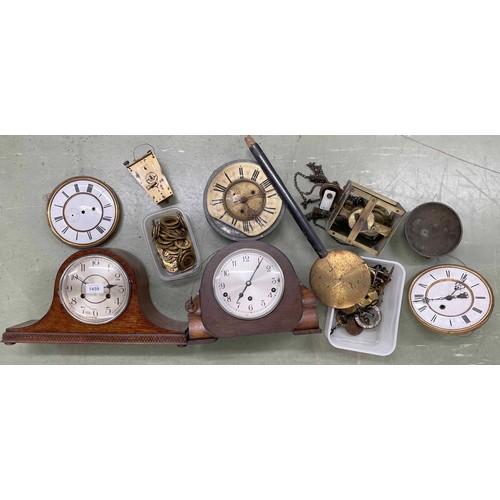 1459 - Garrard three train mantel clock striking on five rods, within an Art Deco oak case, 8.5