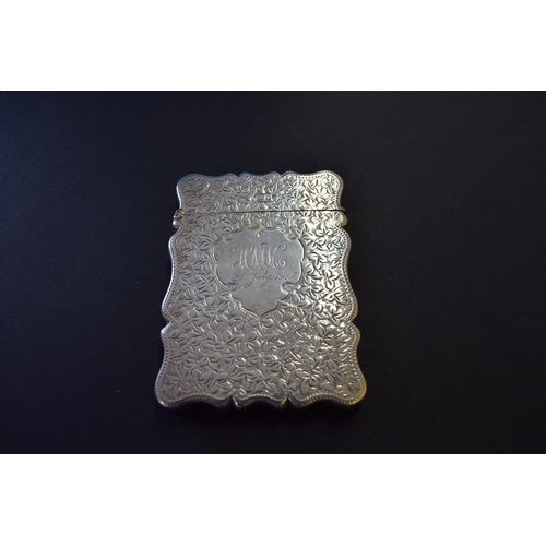 27 - An Edwardian silver card case, by John Rose, Birmingham 1909, 71g....