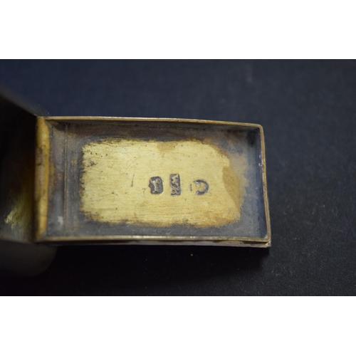 36 - A George III silver snuff box, by William Boot, Birmingham 1808, 5.7cm, 30g....