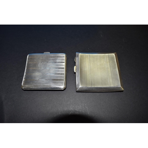 44 - Two silver cigarette cases, 216g approximately....