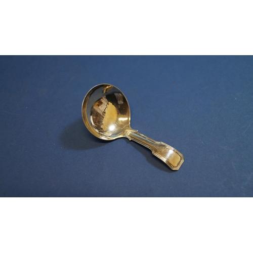 23 - A George III silver caddy spoon, by Joseph Wilmore, Birmingham 1817, 7.2cm....