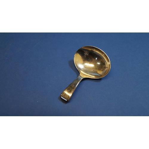 29 - A George III silver caddy spoon, by Edward Mayfield, London 1799, 6.5cm....