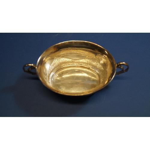 8 - A George III silver oval two handled bowl, by Rebecca Emas & Edward Barnard, London 1814, 15cm, 115g...