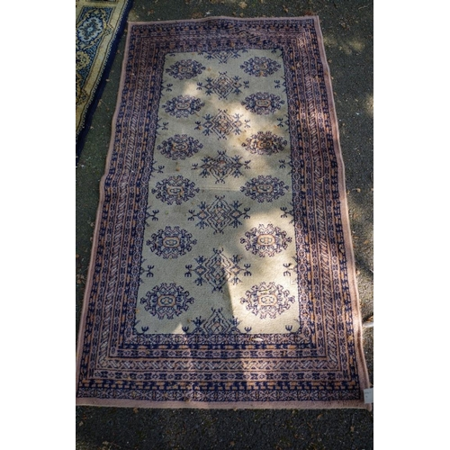 1195 - <strong>A Kashan rug,</strong> having large central floral medallion, floral decoration to borders a...