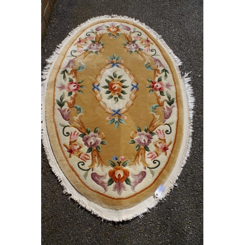 1197 - <strong>A Persian rug,</strong> on red ground having allover floral decoration and floral central me...