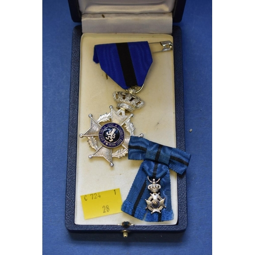 147 - <strong>*WITHDRAWN FROM SALE* </strong><strong>A Belgian police woman's medal; </strong>together wit...