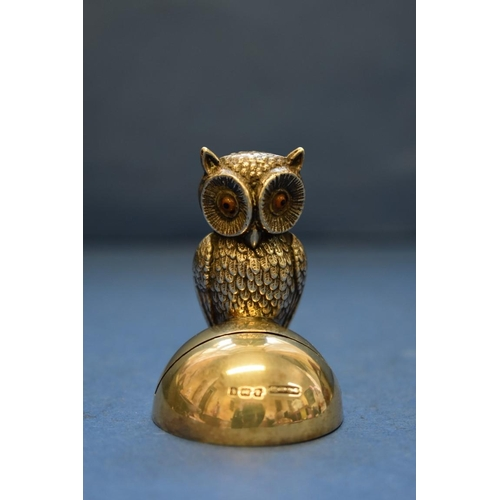 35 - <strong>An Edwardian silver novelty owl menu holder</strong>, <em>by Britton, Gould &amp; Co, </em>B...