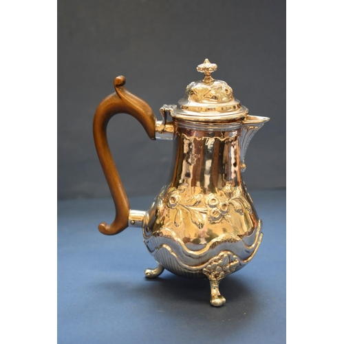 4 - <strong>*WITHDRAWN FROM AUCTION* A George III silver coffee pot,</strong> <em>by T S</em>, probably ...