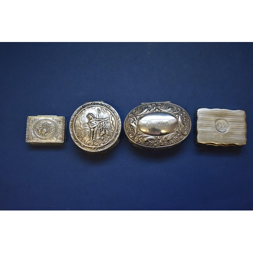 53 - <strong>A silver engine turned snuff box, </strong><em>by John Rose,</em> Birmingham 1946, 41.5g; to...