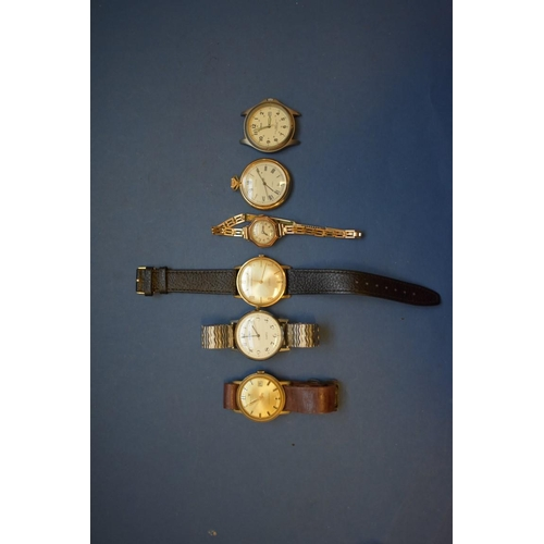 70 - <strong>A Cronel gentlemans wristwatch; </strong>together with two other gentlemans wristwatches; an...