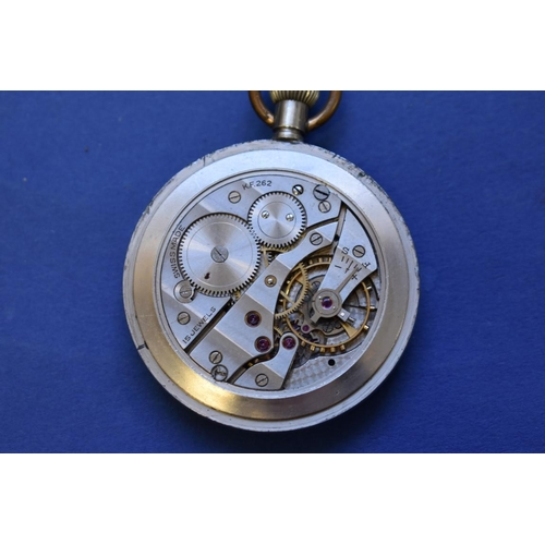 77 - <strong>Two vintage military G.S.T.P open faced pocket watches,</strong> one by Grana....