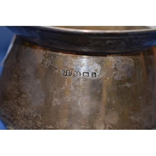 8 - <strong>An Edwardian silver cauldron shaped sugar bowl,</strong><em>by George Unite,</em>Birmingha...