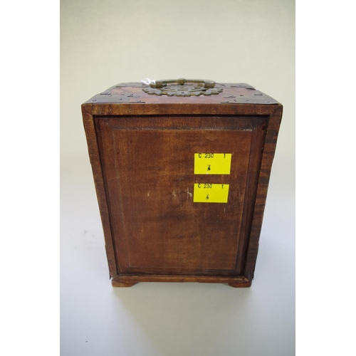 514 - Chinese wooden jade table cabinet....
