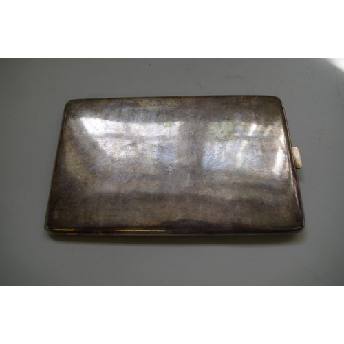 571 - <strong>A Chinese .90 silver cigarette case,</strong> the hinged top engraved with a four-clawed dra...