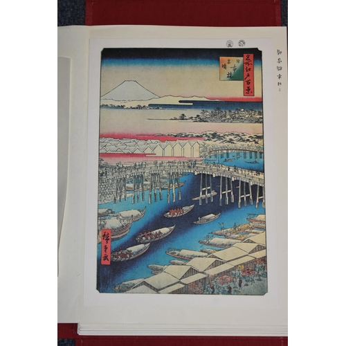 650 - <strong>A large quantity of reproduction Japanese woodblock prints,</strong> in presentation box fol...