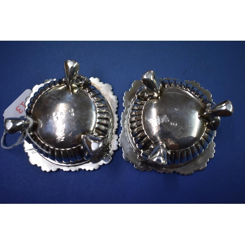 13 - <strong>A good pair of George III silver salts,</strong><em>by J E Terrey &amp; Co,</em>London 181...
