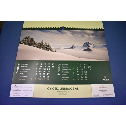 77B - Two unused Rolex calendars 2005 and 2012....