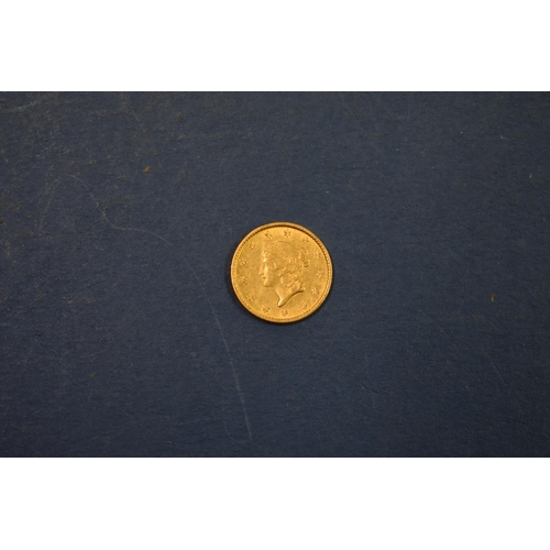 80a - <strong>An American gold $1 1853.</strong>...