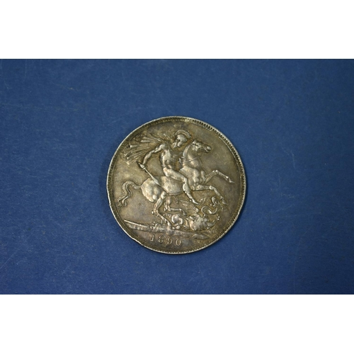 81A - <strong>A Victoria silver crown 1890</strong>; together with a silver half crown 1887 and various U....