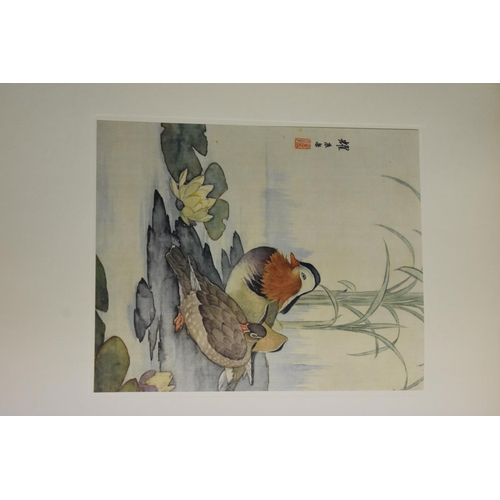 543 - <strong>Book: </strong>a bound collection of sixty-nine Chinese reproduction pictures of animals, ea...