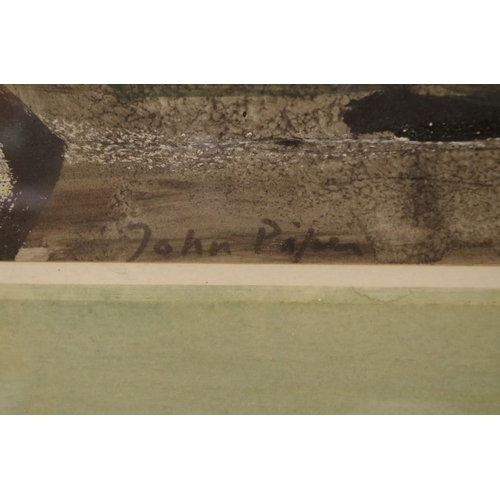 1782 - <strong>John Piper,</strong>'Corner in Maiden Newton', signed, titled and dated 'Sunday Nov 7 1954'...