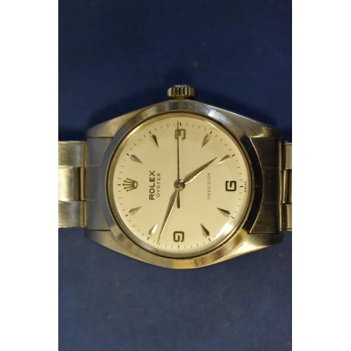 202 - <strong>A 1960s Rolex Oyster Precision stainless steel gentleman's wristwatch</strong>, 40mm case, o...