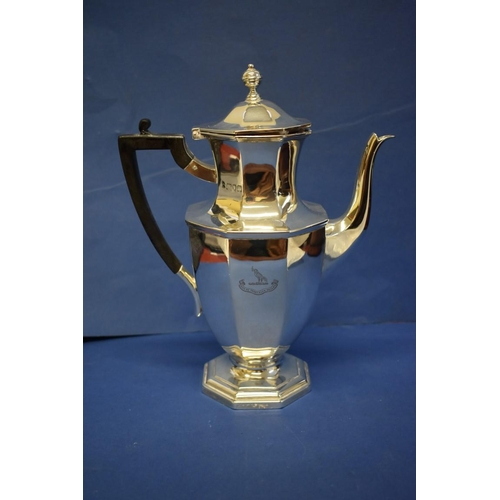24 - A silver octagonal baluster water jug,by Thomas Bradbury & Sons Ltd,London 1906, 27.5cm; toget...