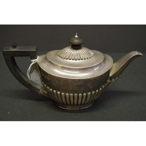 1 - <strong>A Queen Anne style </strong><strong>silver </strong><strong>batchelor teapot,</strong> <em>b...