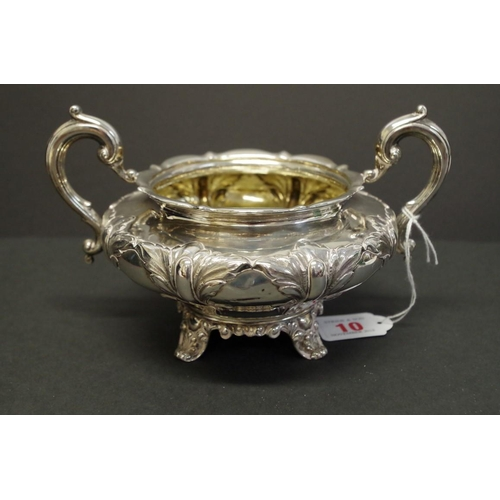 10 - <strong>A William lV silver twin handled slop bowl, </strong><em>by Richard Pearce &amp; George Burr...