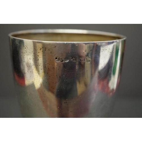 18 - <strong>A silver billiard trophy goblet,</strong><em>by Joseph Gloster Ltd,</em> Birmingham 1923, 1...