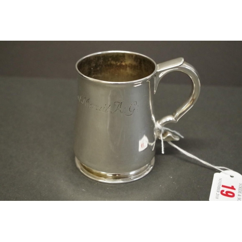 19 - <strong>A provincial George I silver baluster tankard,</strong><em>by Francis Batty ll,</em>Newcas...