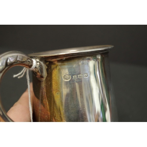 23 - <strong>A silver baluster Christening mug</strong>, <em>by Alexander Clark &amp; Co, </em>Birmingham...