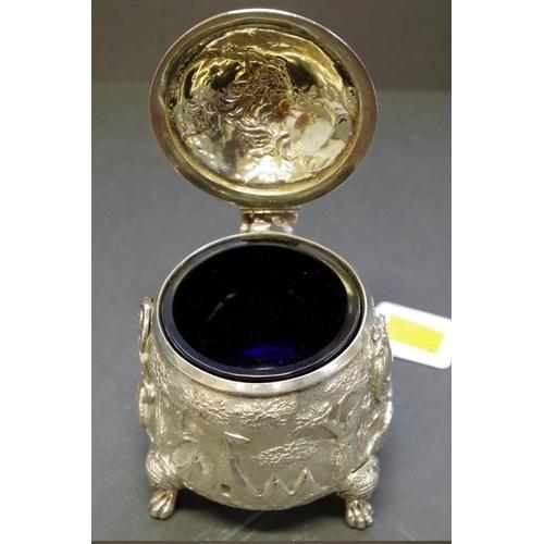 26 - <strong>An unusual George lll Britannia standard silver lidded pot,</strong> <em>by Edward Farrell,...