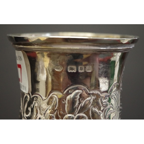 27 - <strong>A silver baluster vase,</strong> re-assayed for London 1931, 21.5cm, 515g....