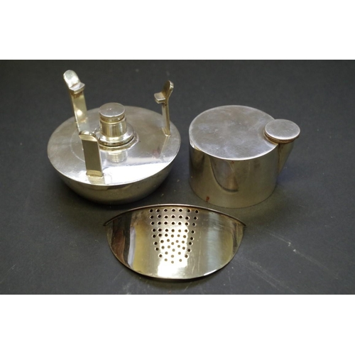 41 - <strong>A vintage silver plated motoring combination picnic tea set for one</strong>, <em>by RHRH</e...