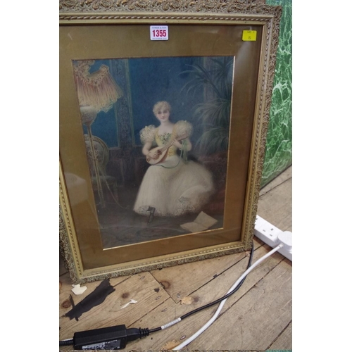1067 - <strong>After Hal Ludlow, </strong>a set of four lithographs of Victorian ladies, 39 x 29cm. (4)&nbs...