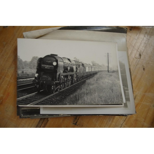 1445 - <strong>Railway Interest:</strong>a small collection of black and white photographs, circa 1960s; t...