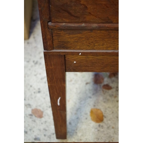 1050 - <strong>A 1920s oak two drawer filing cabinet,</strong>37cm wide. ...