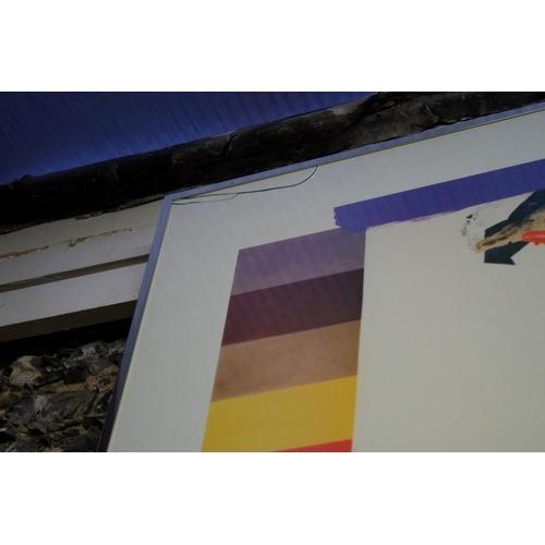 1062 - <strong>A Jasper Johns framed poster, </strong>78 x 135cm....