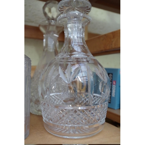 1078 - <strong>WITHDRAWN FROM SALE: A collection of eleven clear glass decanters and stoppers, </strong>to ...