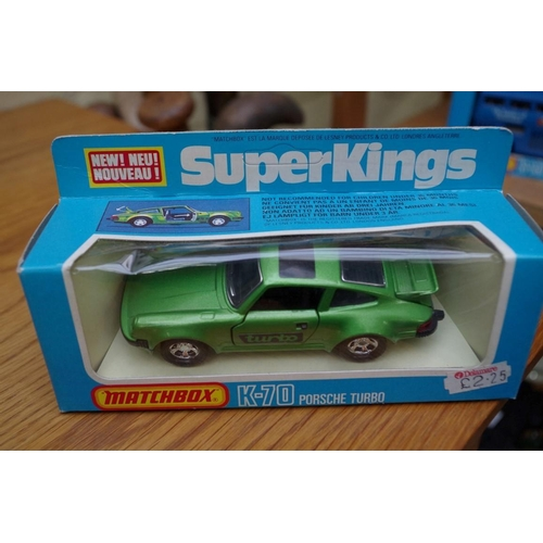 1094 - <strong>A collection of nine Matchbox Superkings diecast model vehicles</strong>; together with two ...