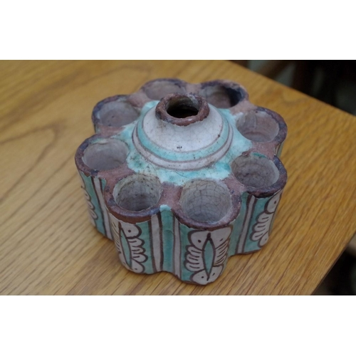 1095 - <strong>A mixed lot,</strong> to include a Belleek jug; a bell metal candlestick; a jade bear; tin g...