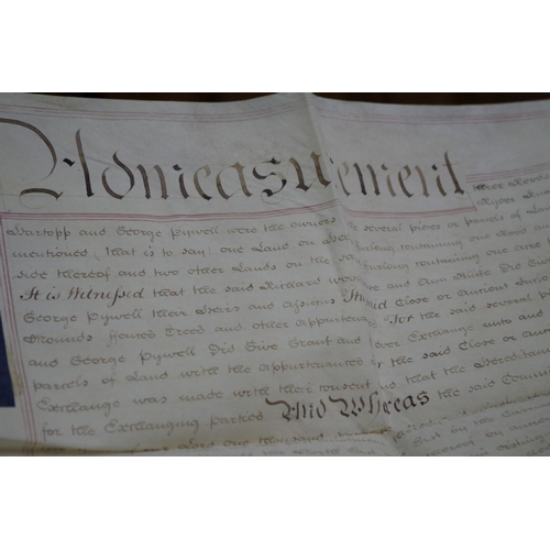 1255 - <strong>Vellum Documents: </strong>a group of six large 19th century vellum documents. (6)...