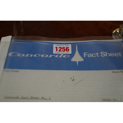 1256 - <strong>Concorde: </strong>seventeen Concorde fact sheets (1-17) issued by BAC and Aerospatiale...