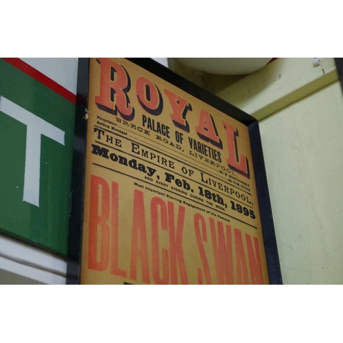 1332 - <strong>A Royal Palace of Varieties, Liverpool, 1895 playbill, </strong>88 x 26.5cm. ...