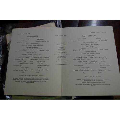 1375 - <strong>A collection of nine Cunard menus, 1960s.</strong>...