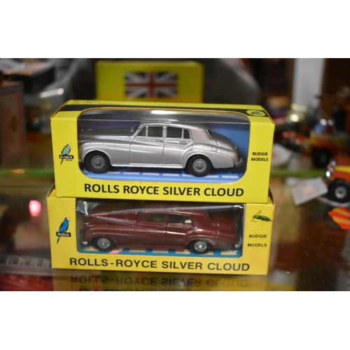 1484 - <strong>Two Budgie 102 Rolls-Royce Silver Clouds,</strong>one in original box, the other in re...