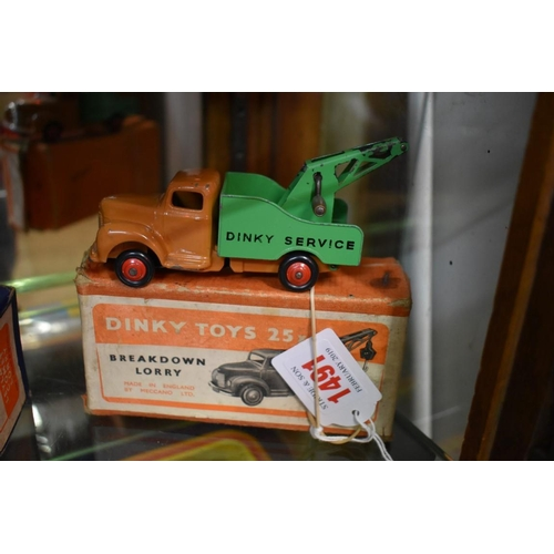 1491 - <strong>A Dinky 25x breakdown lorry, </strong>boxed....
