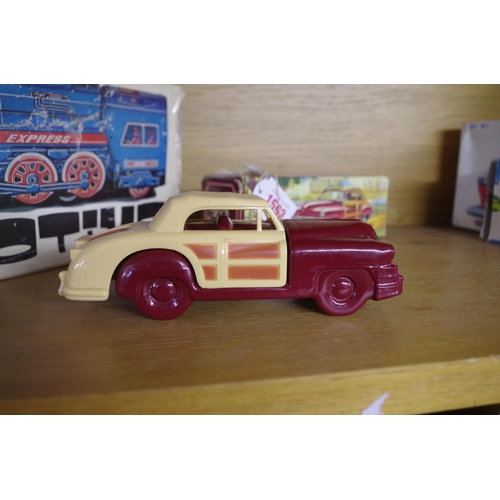 1593 - <strong>A circa 1960s novelty Avon '48 Chrysler' aftershave bottle, </strong>boxed and with contents...