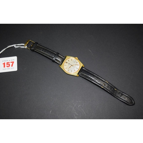 157 - <strong>A 1970s Omega Geneve gilt gentlemans wristwatch,</strong> cal 613, movement number 3465...
